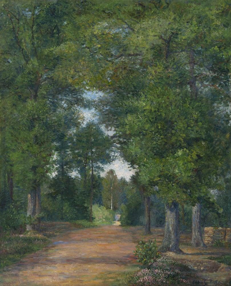 ALBERT DUBOIS-PILLET, Paysage de forêt à Vigouroux