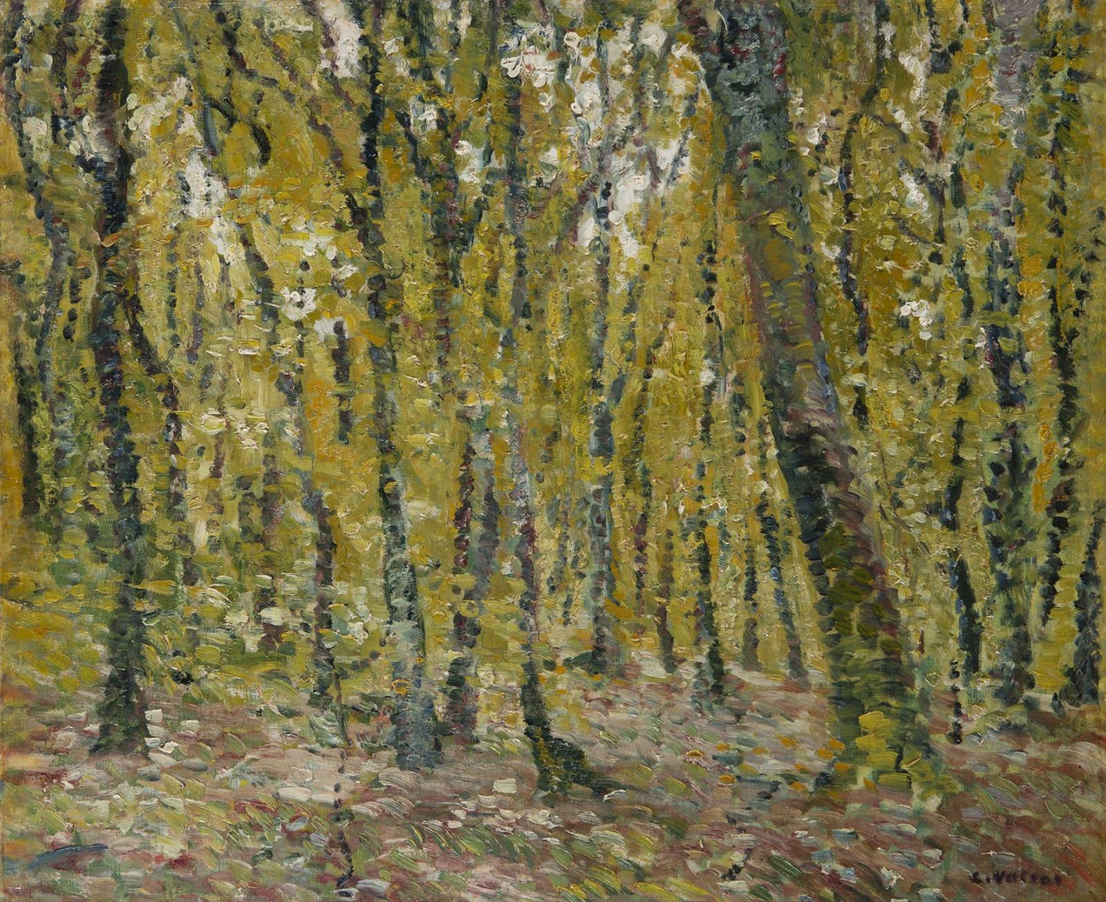 LOUIS VALTAT, Sous bois, 1899