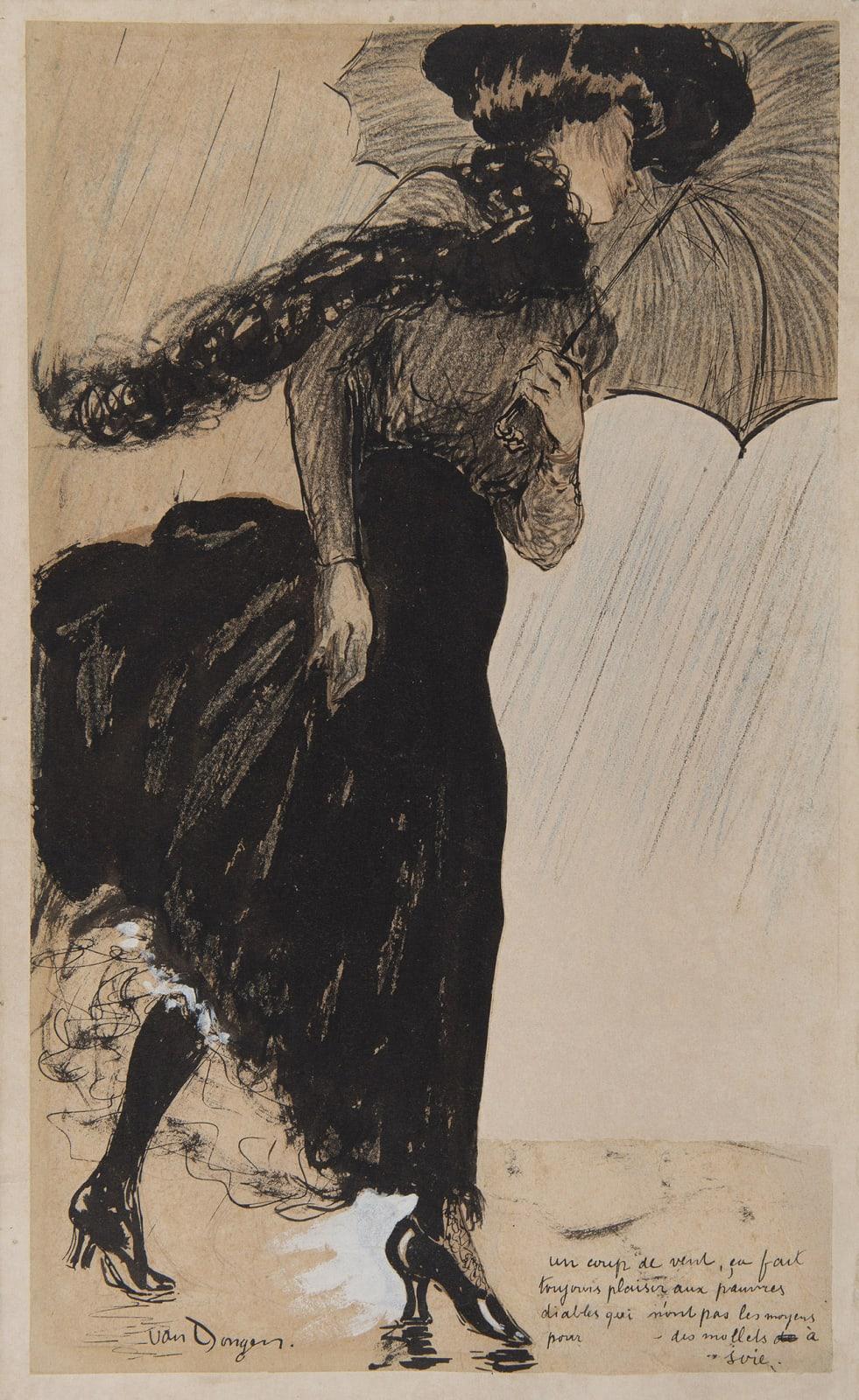KEES VAN DONGEN, Un coup de vent, 1901