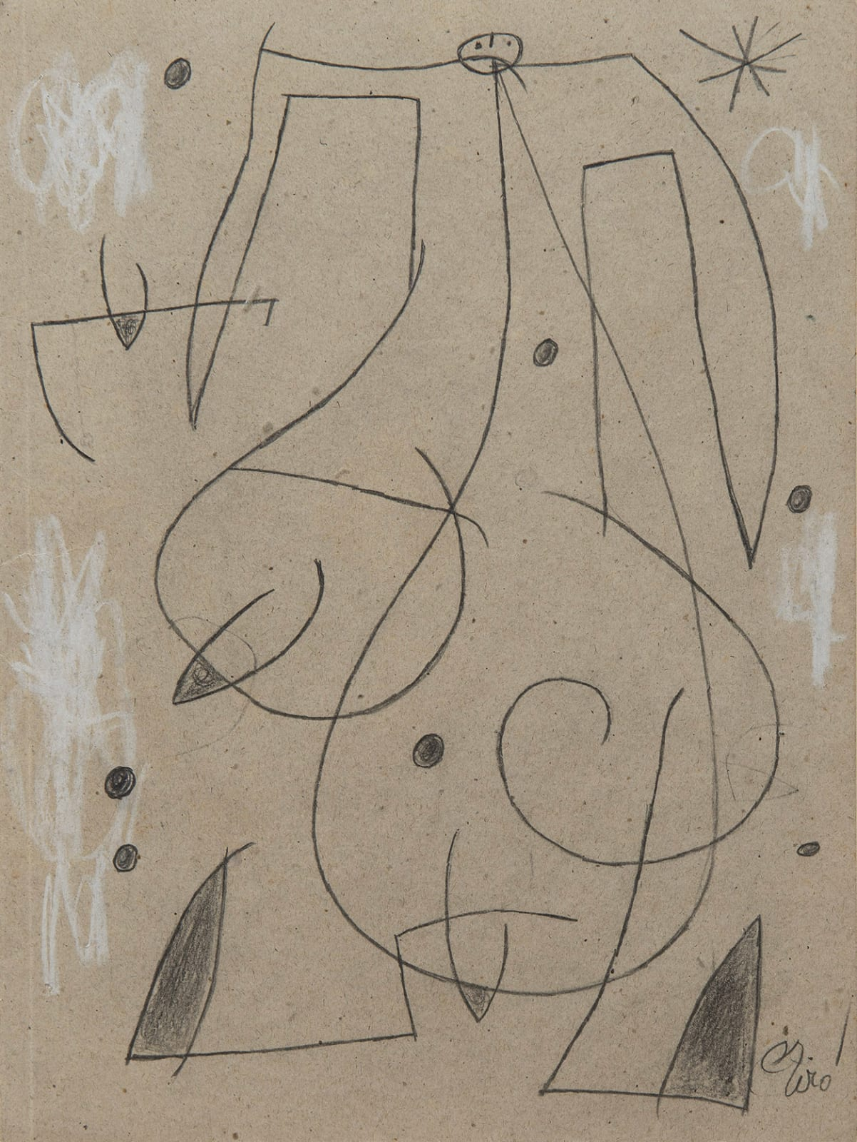 JOAN MIRO, Femme, oiseau, étoile, constellations, 26.II.77