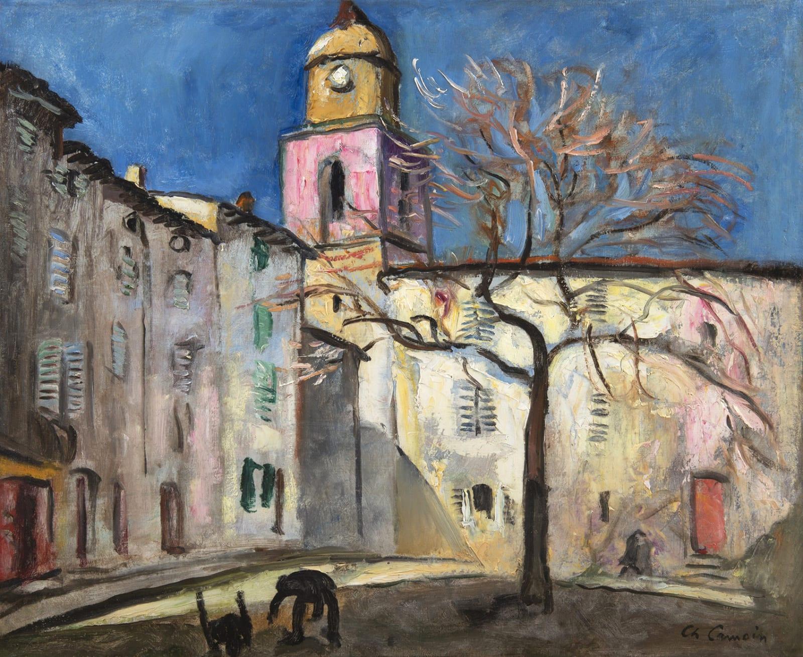 CHARLES CAMOIN, Place de l'Ormeau à Saint-Tropez, 1921