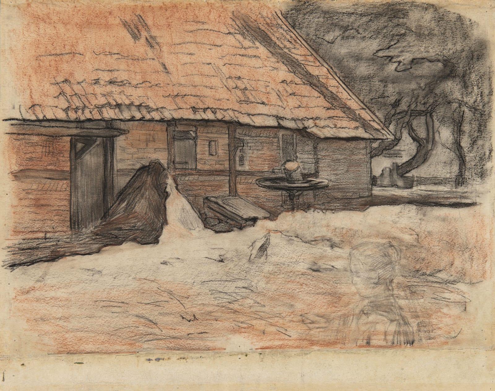 PIET MONDRIAN, Vue d'une ferme à Winterswijk, circa 1898-1899
