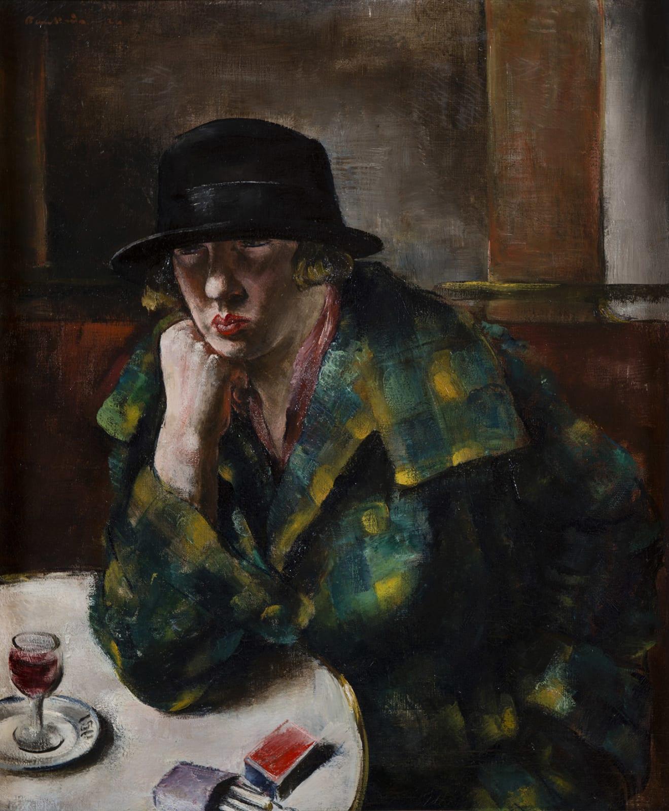 JEAN FAUTRIER, Femme assise dans un café, 1924