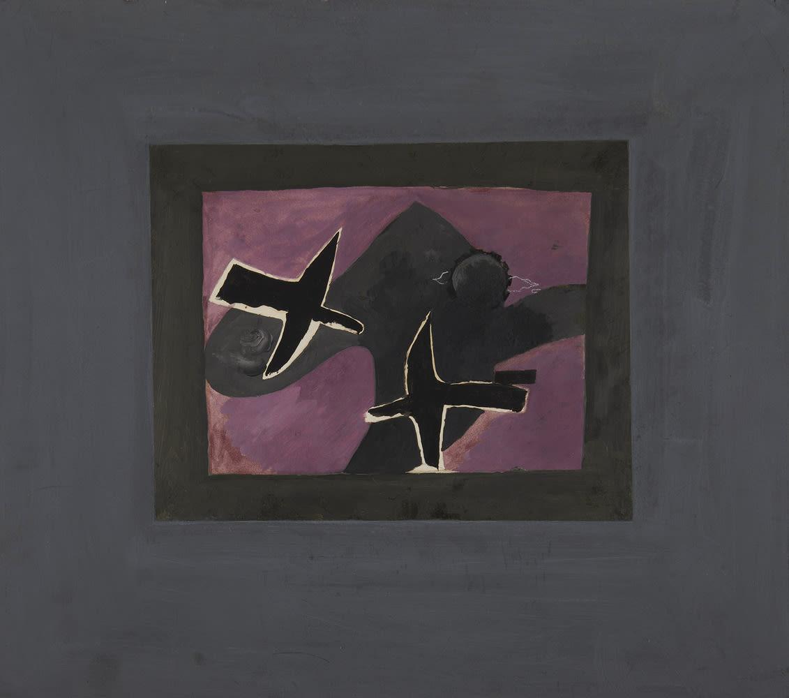 GEORGES BRAQUE, Les deux oiseaux noirs, 1956