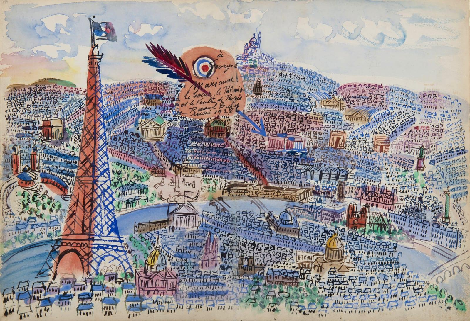 RAOUL DUFY, Paris, Livre d'or de Marianne, 1927