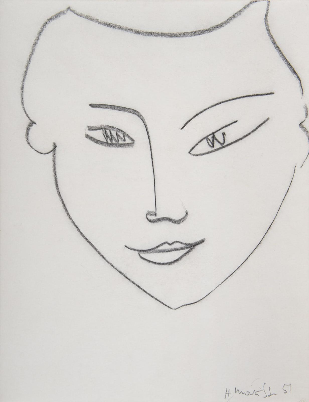 HENRI MATISSE, Visage de femme, 1951