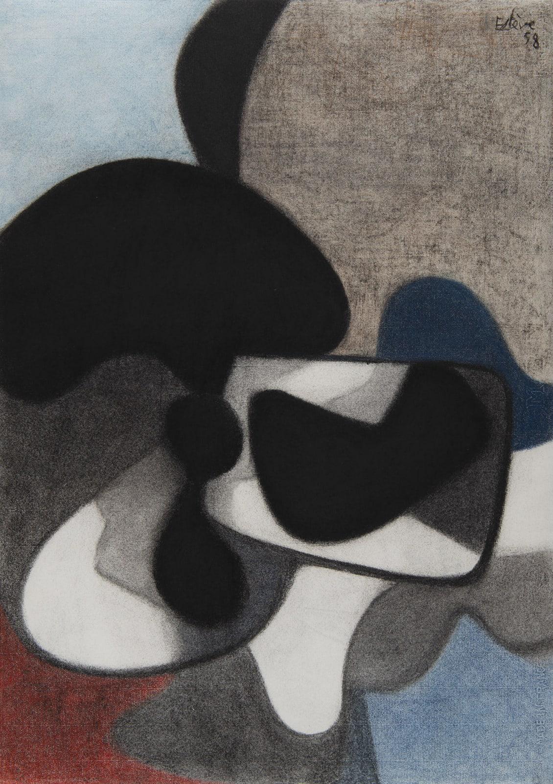 MAURICE ESTÈVE, Sans titre, 1958