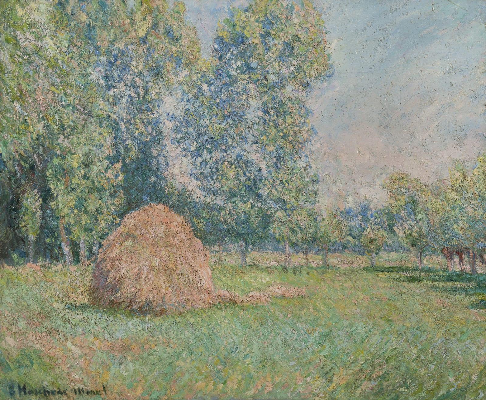 BLANCHE HOSCHEDÉ-MONET, Meule de foin, plaine des Ajoux, Giverny, 1884-1885