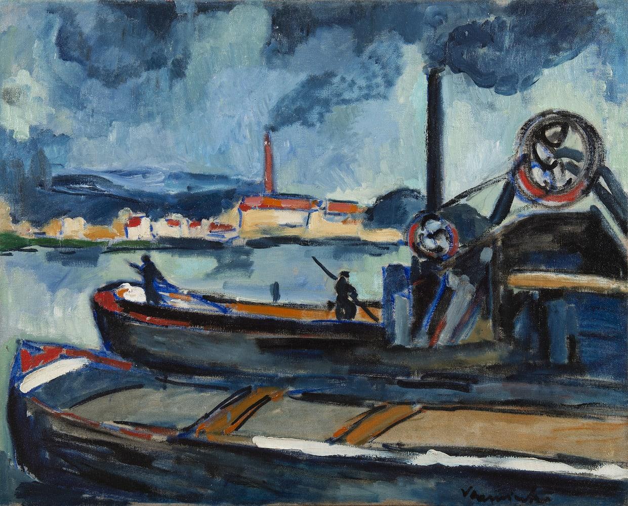 MAURICE DE VLAMINCK, La Seine à Chatou, 1907
