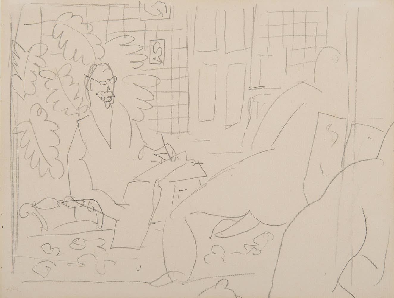 HENRI MATISSE, Le peintre et son modèle, 1937