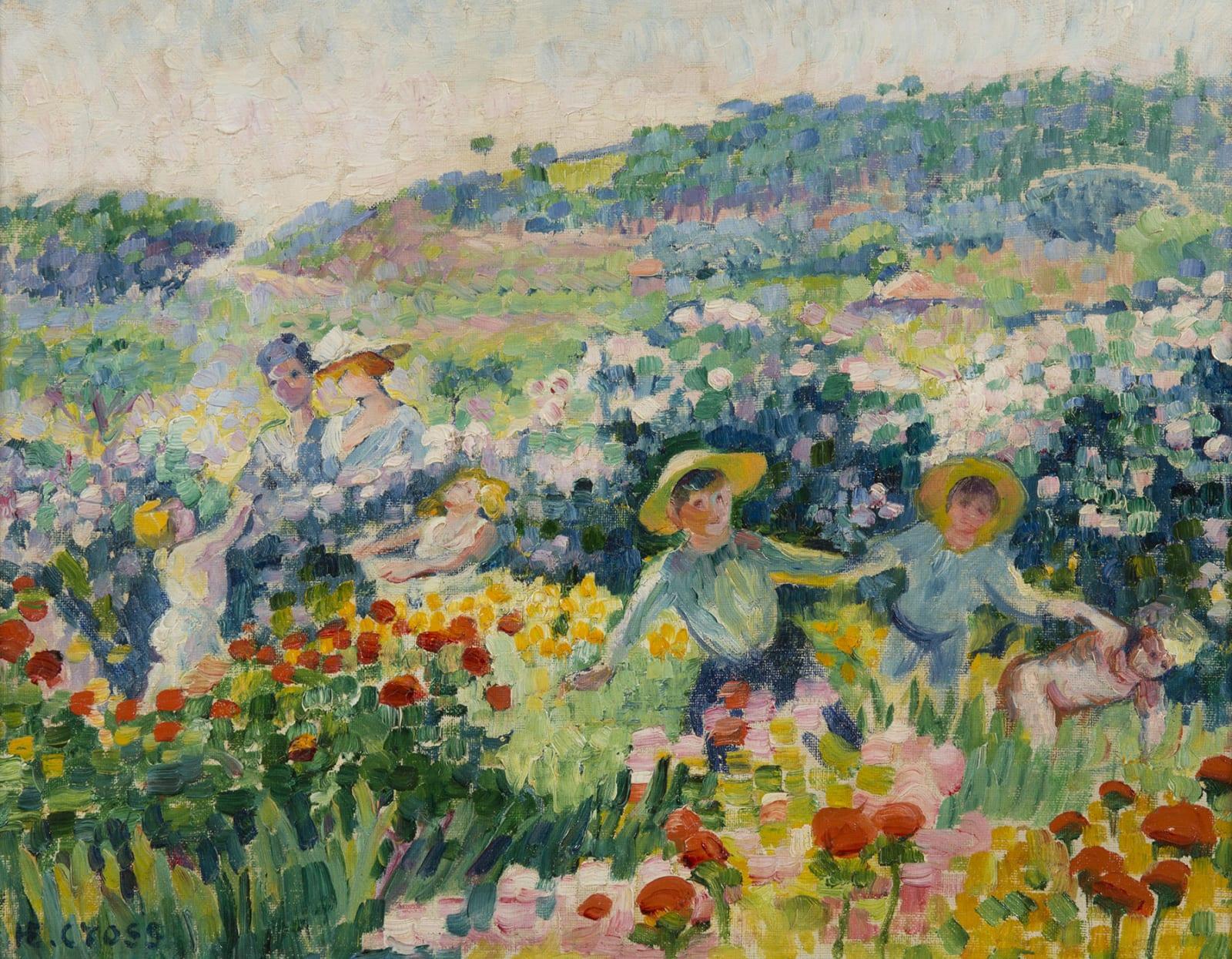 HENRI-EDMOND CROSS, La haie de roses, 1904