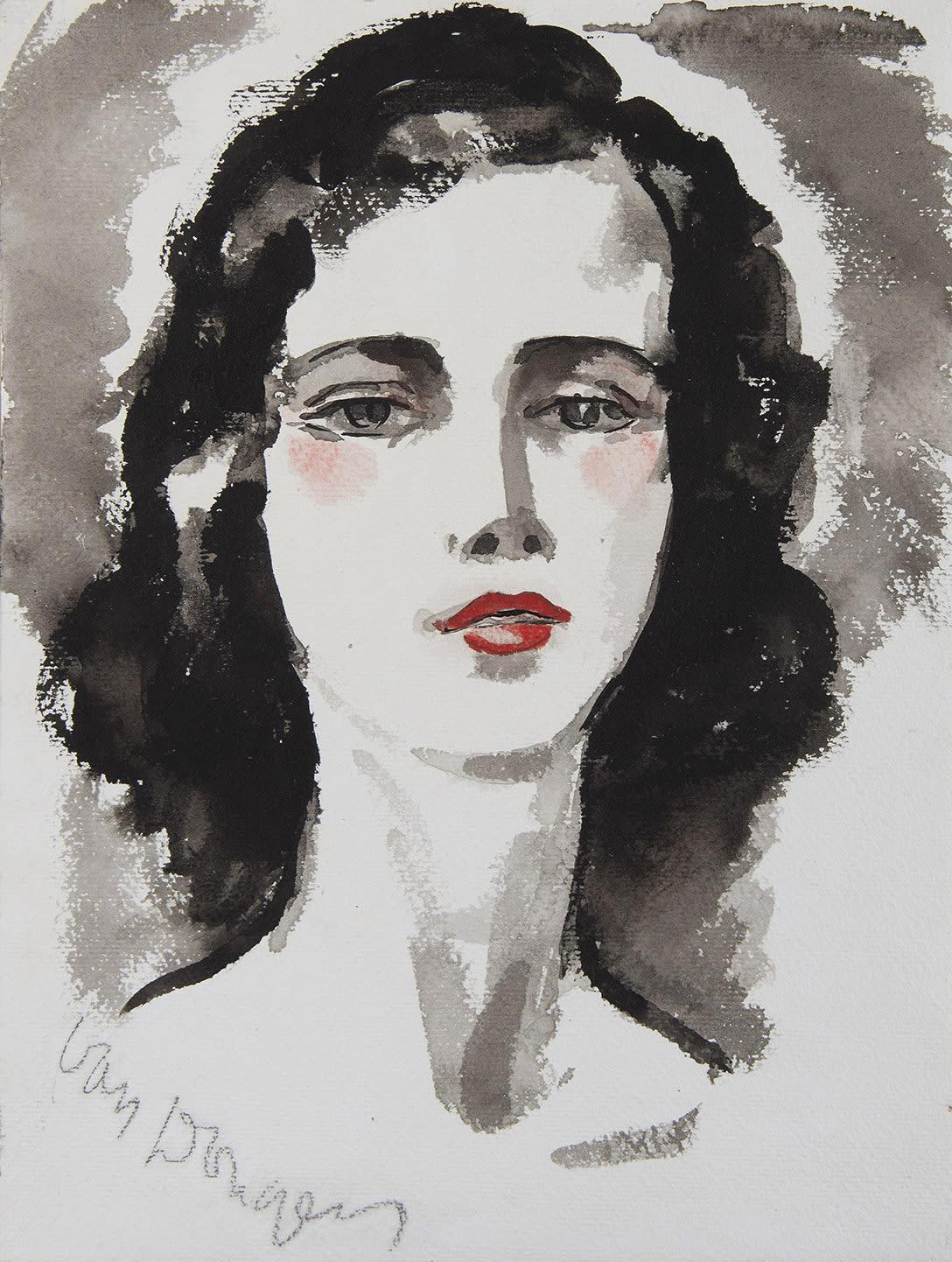 KEES VAN DONGEN, Portrait de jeune femme
