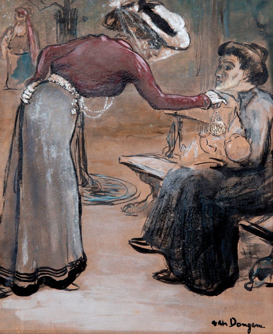 KEES VAN DONGEN, Scène de rue, circa 1902