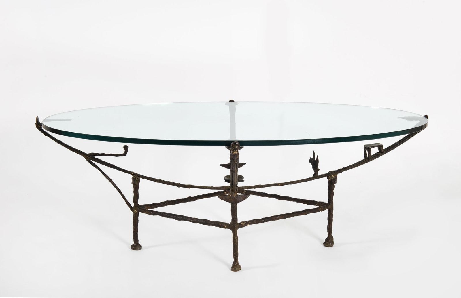 DIEGO GIACOMETTI, Table Carcasse, modèle à la chauve-souris