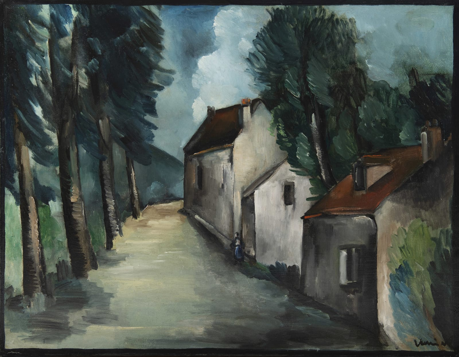 MAURICE DE VLAMINCK, Rue de village, 1912