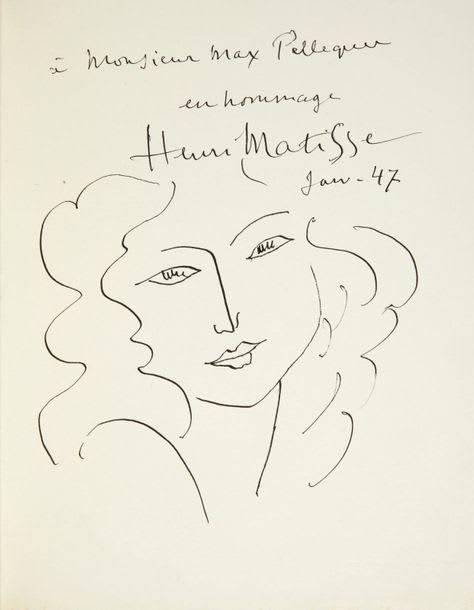 HENRI MATISSE, Tête de femme, 1947