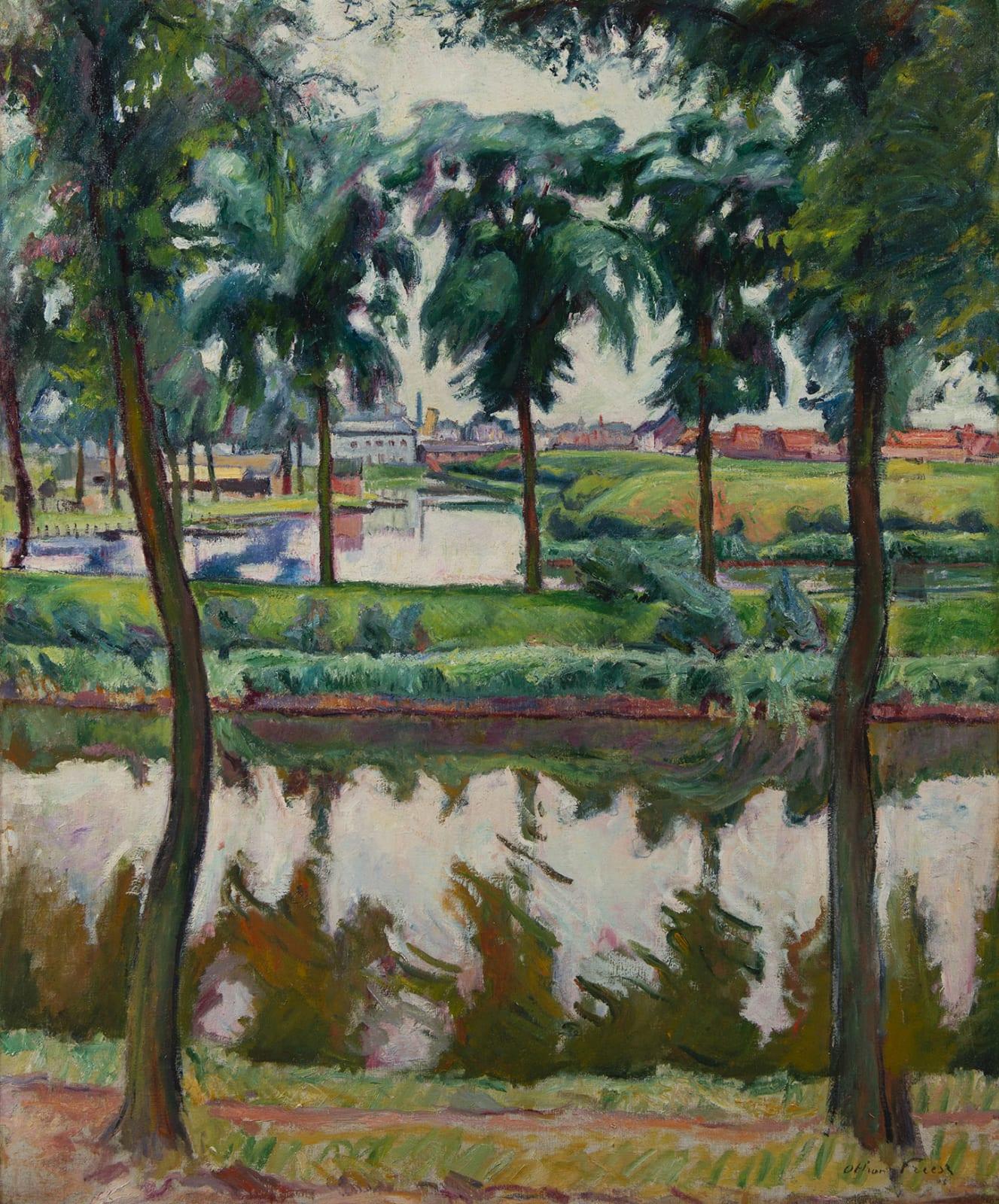 EMILE OTHON FRIESZ, Canaux à Anvers, 1906