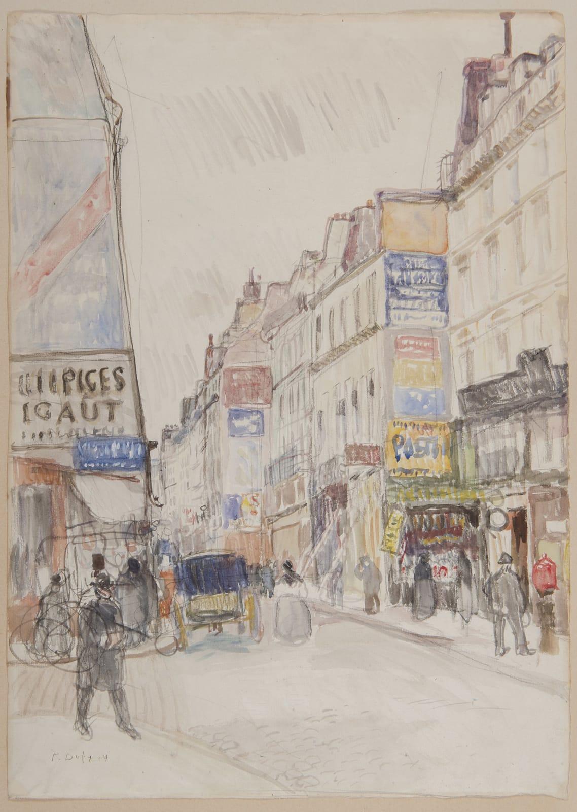 RAOUL DUFY, La rue Vieille du Temple à Paris, circa 1904