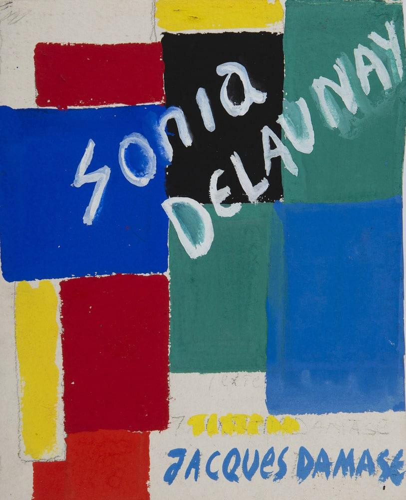 SONIA DELAUNAY, Projet de couverture, 1969