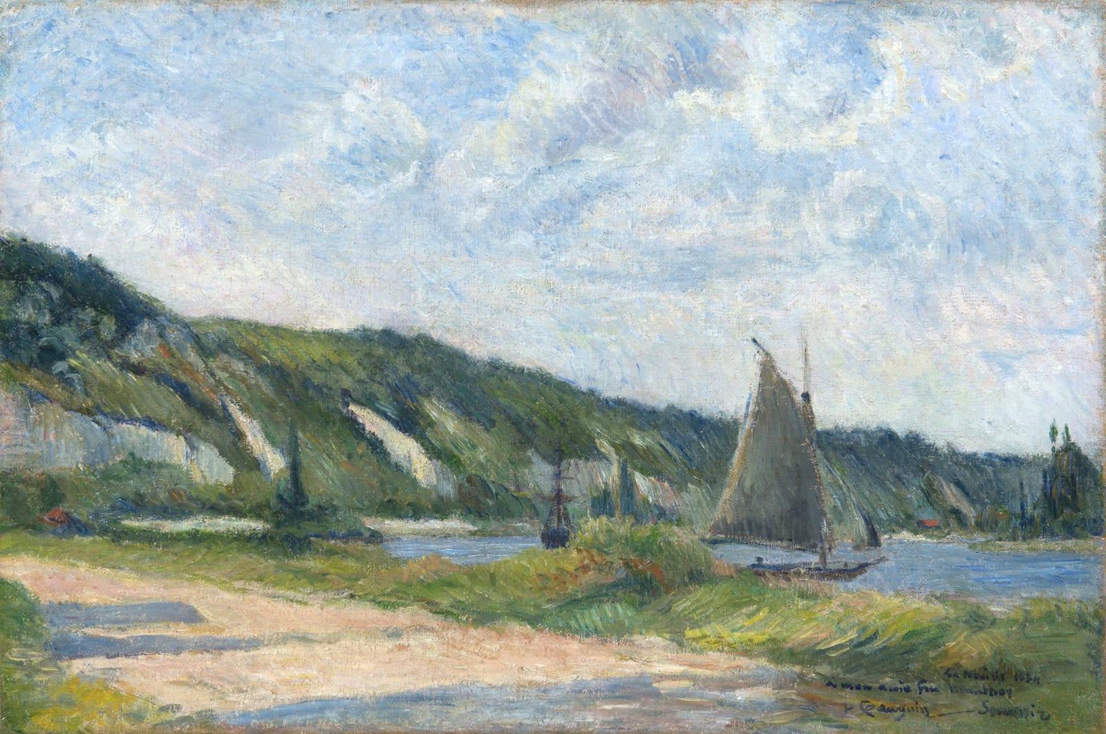 PAUL GAUGUIN, Les Falaises de La Bouille, 1884