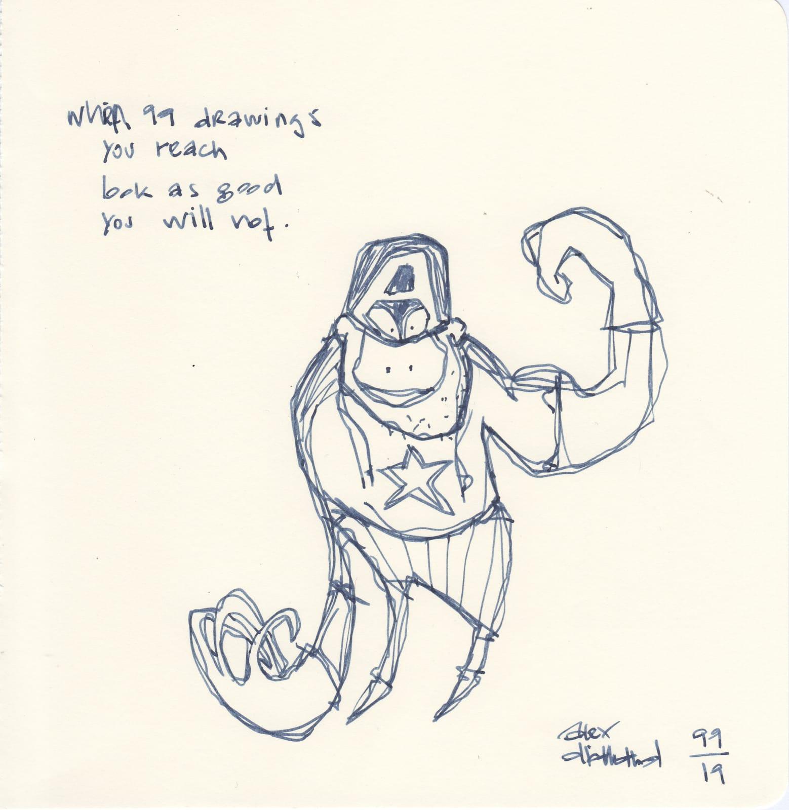 Jörg Heikhaus aka Alex Diamond, Daily Drawing #99, 2019