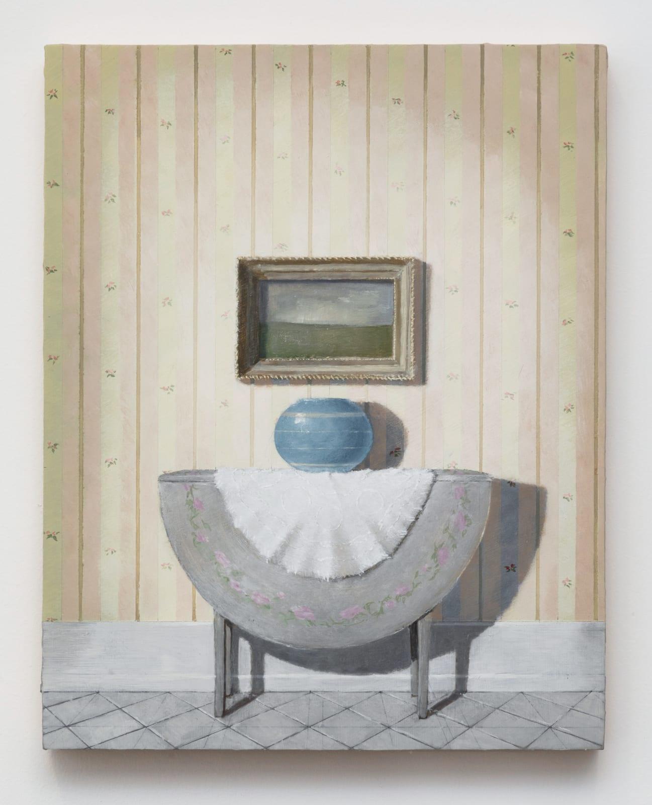 Quentin James McCaffrey, Landscape with Blue Vase, 2020