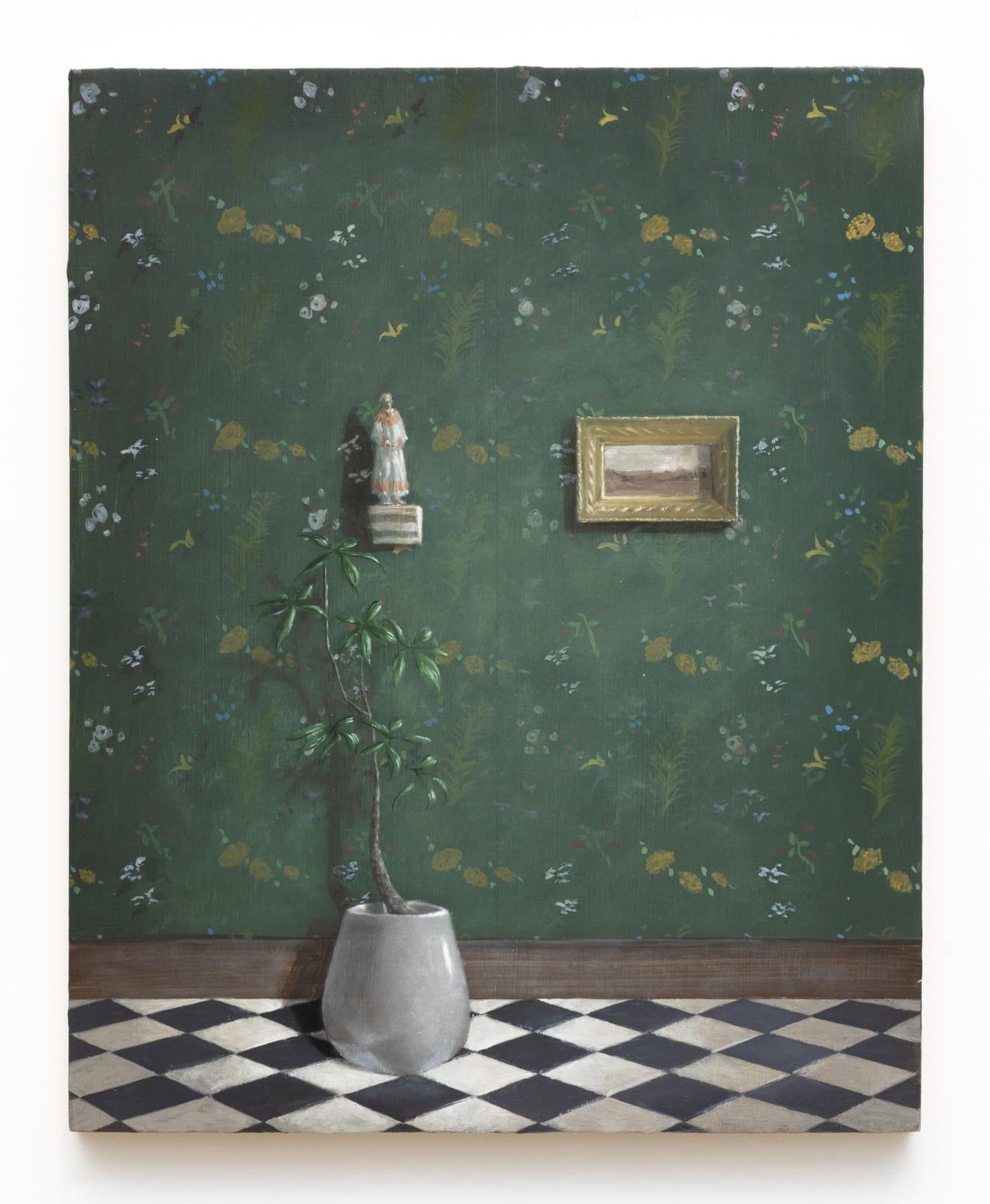 Quentin James McCaffrey, Landscape with Saint, 2020