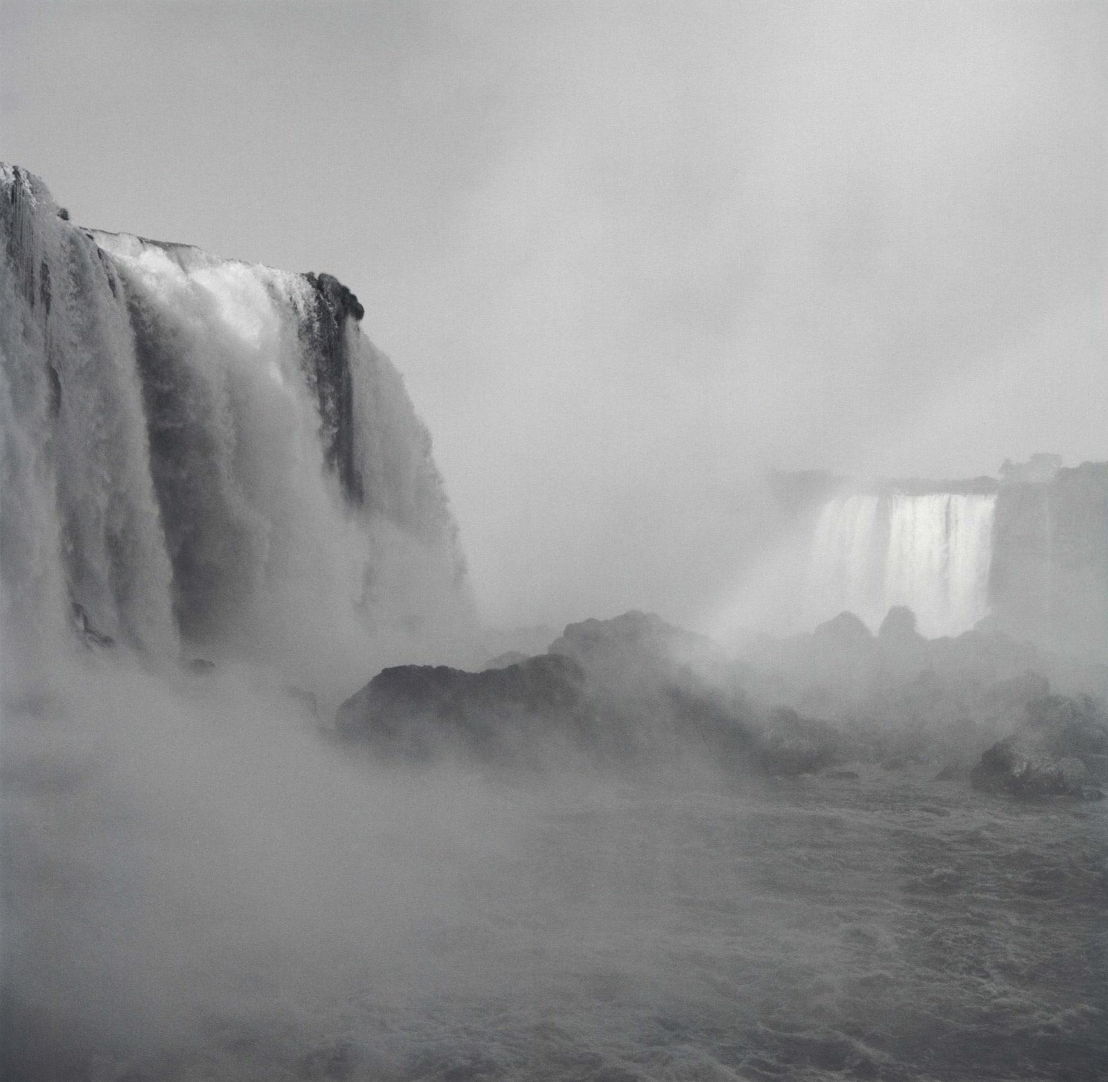 Lynn Davis photograph of Iguazu Falls waterfall from Brazil side with mist rising