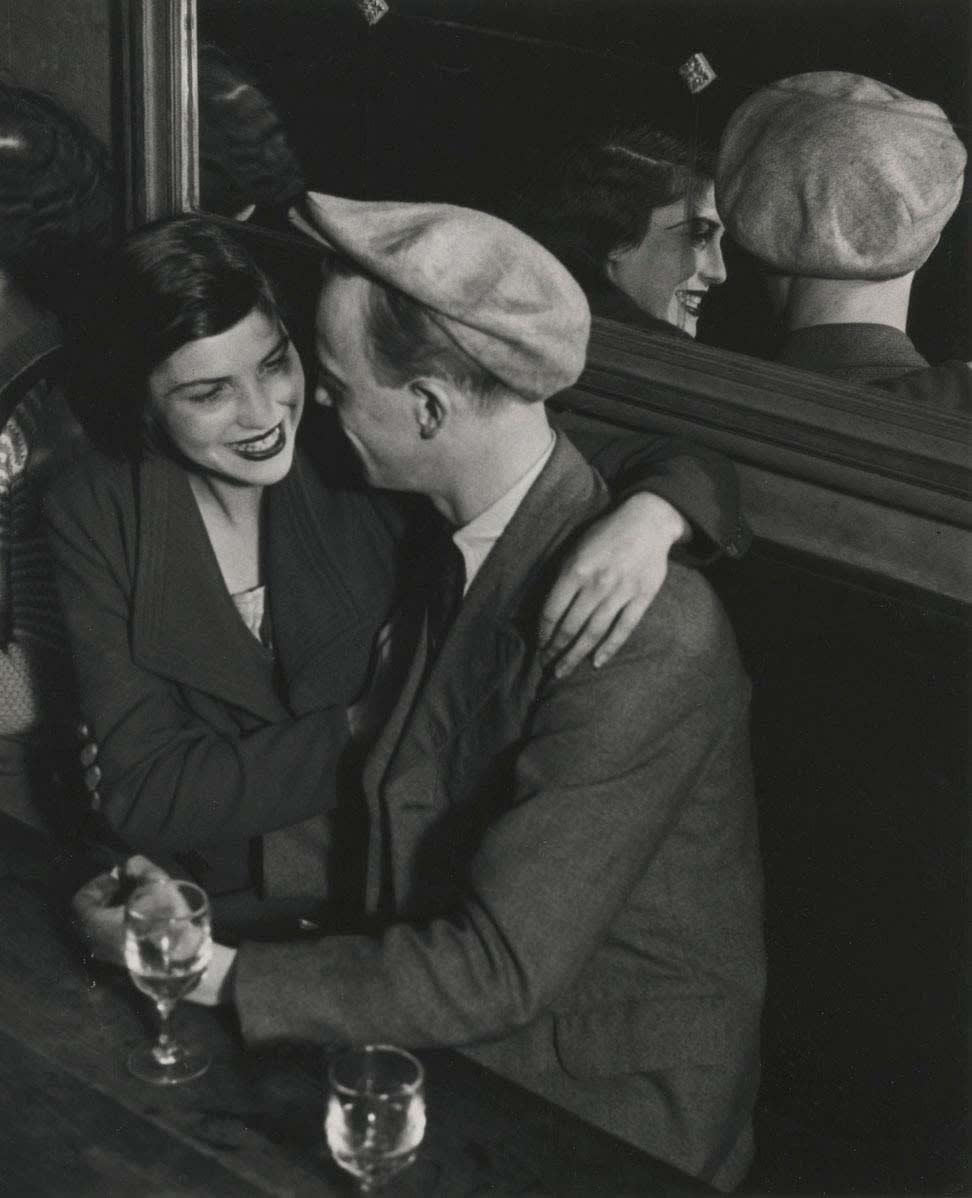 Brassaï, Couple at the Bal des Quatre Saisons, Rue de Lappe, 1933
