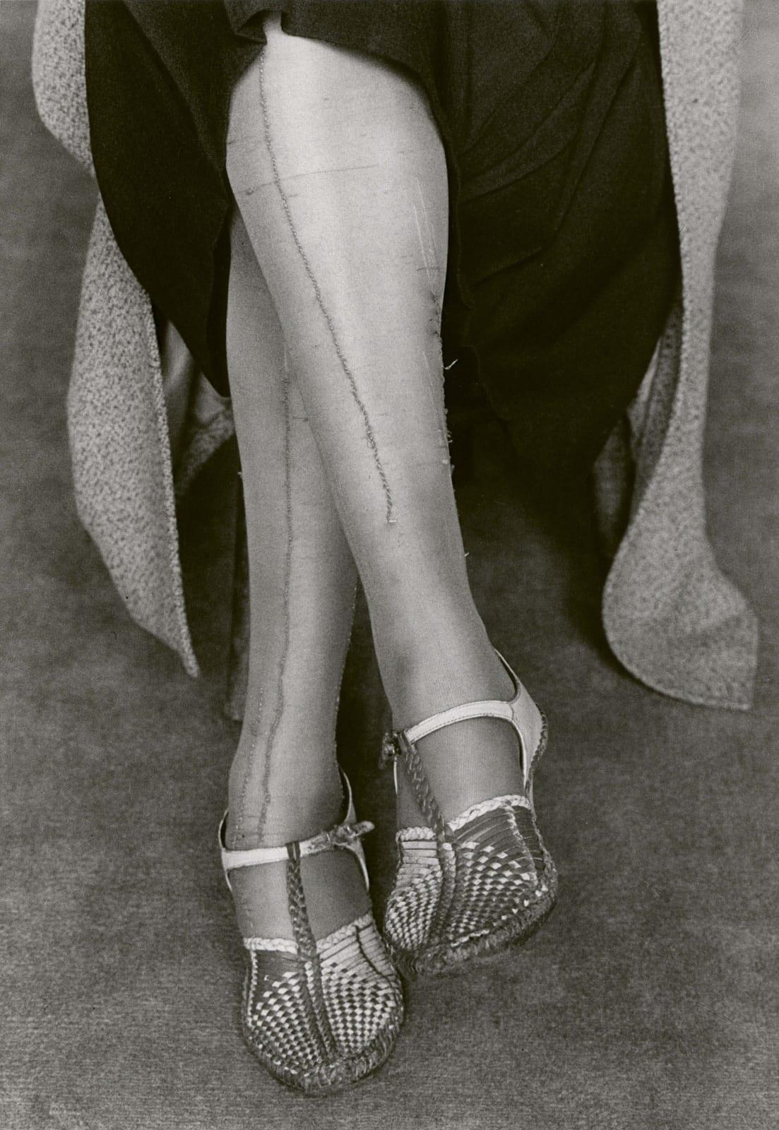 Dorothea Lange, Mended Stockings, San Francisco, 1934
