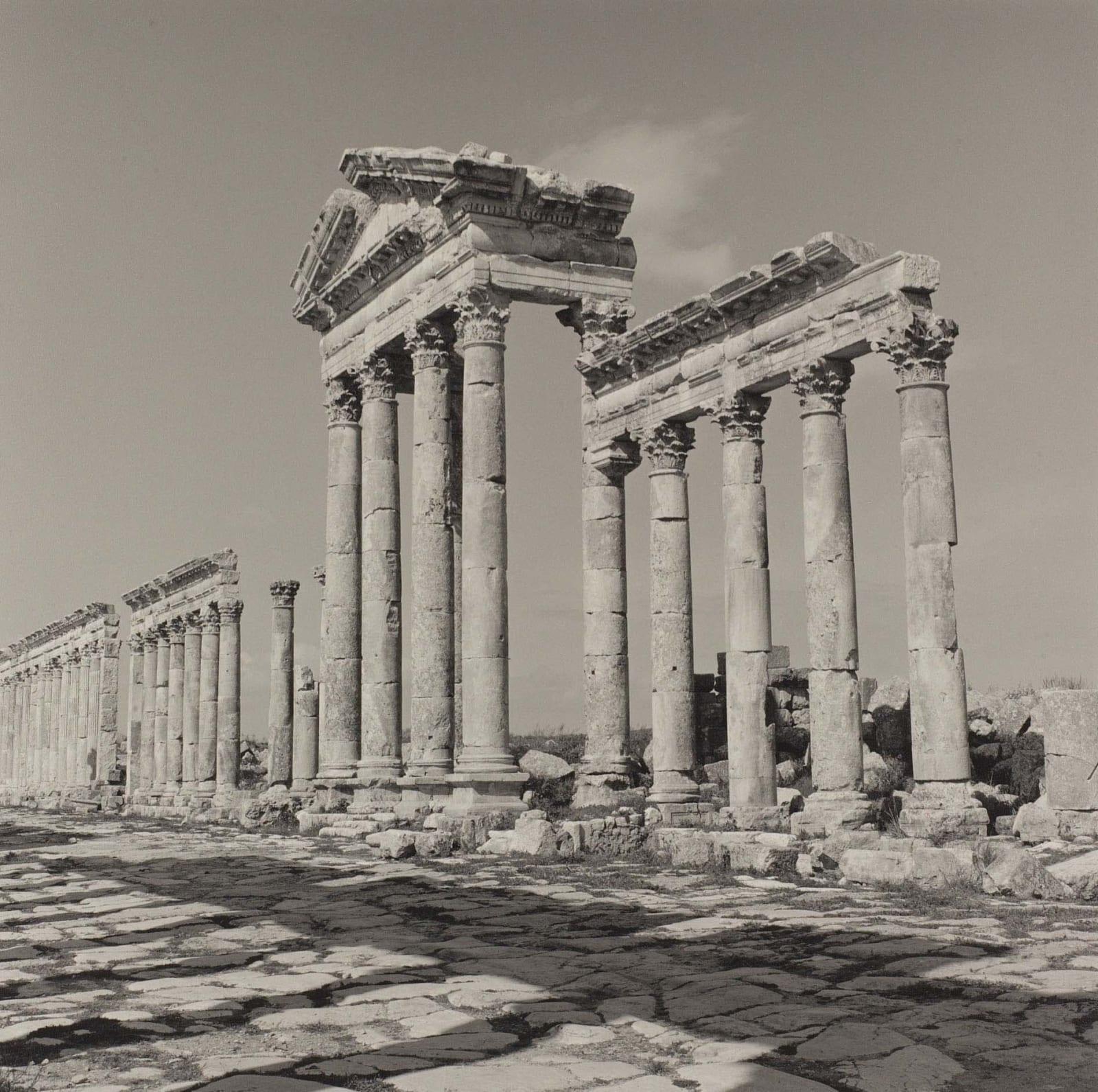 Lynn Davis photograph of ruins of ancient city at Apamea, Syria