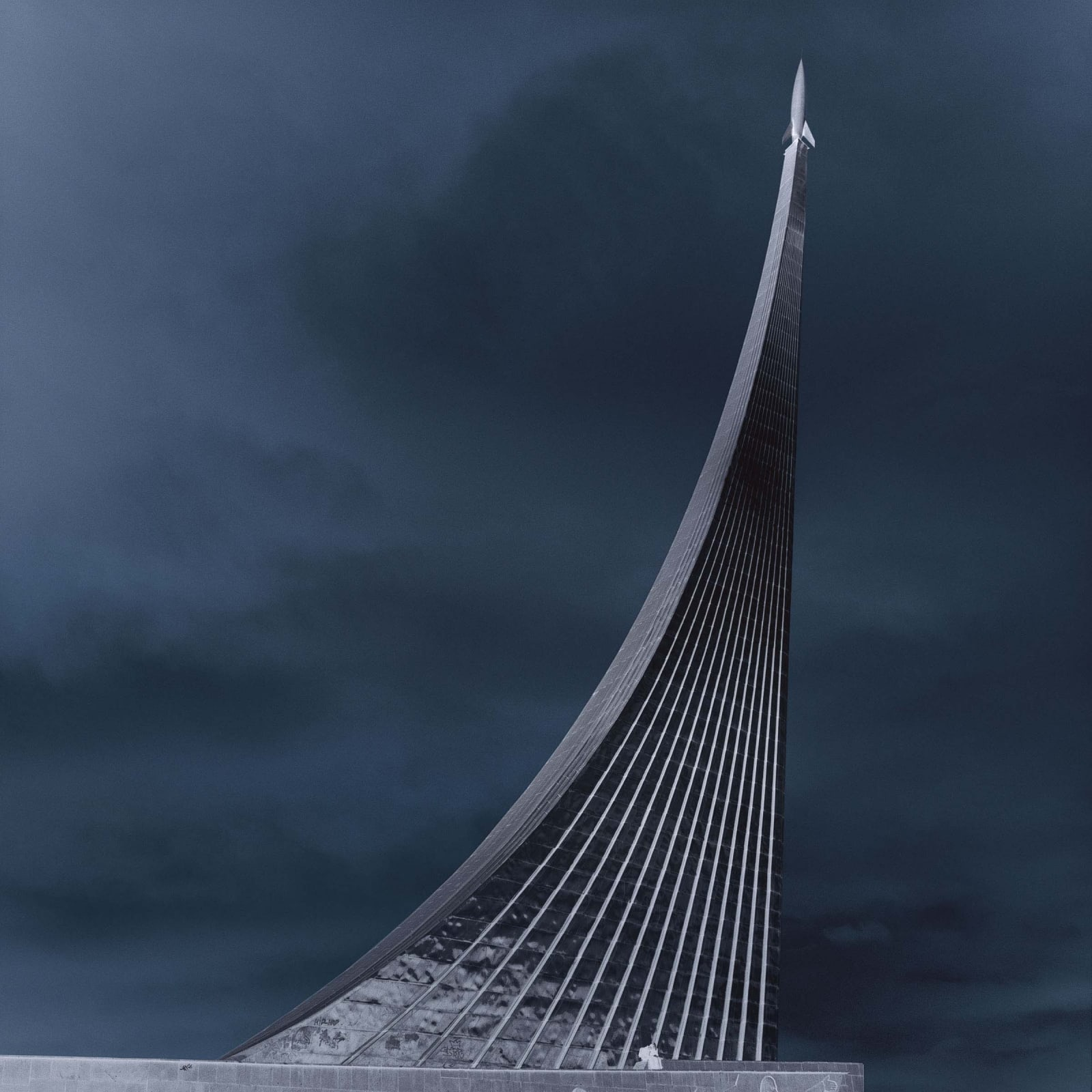 Monument to the Conquerors of Space of the VDNKh (1964), Exhibition Center, Moscow, Russia by Lynn Davis
