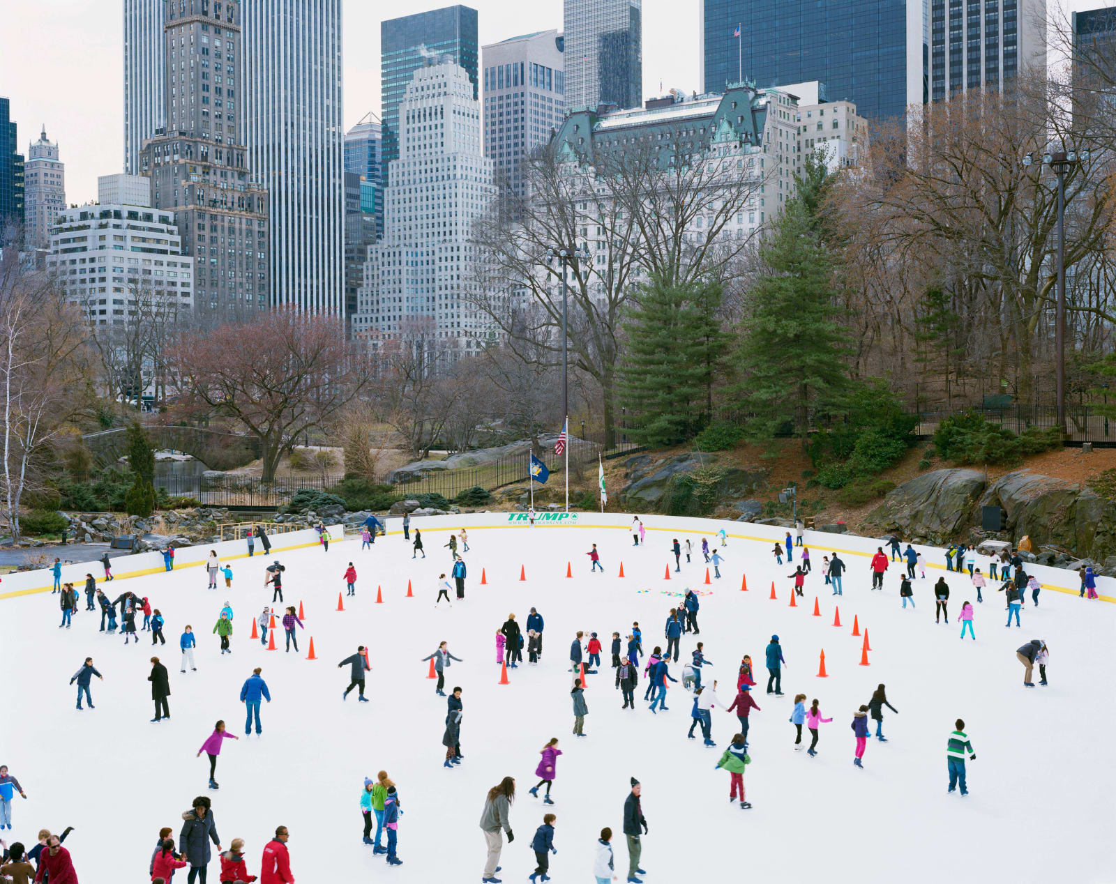 Skaters at Wollman Rink in Central Park, New York City, by Massimo Vitali