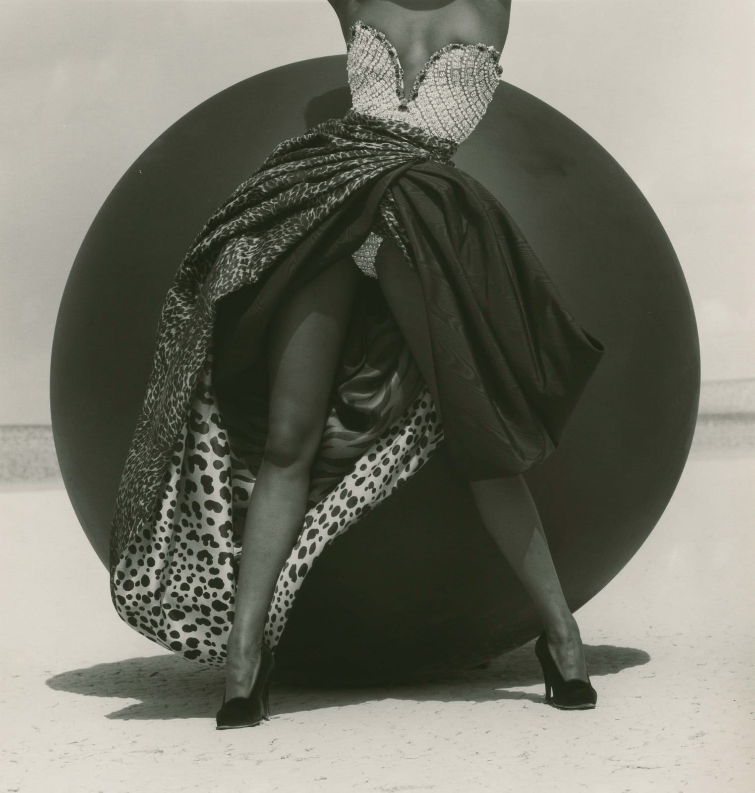 Herb Ritts, Naomi Campbell - Versace, El Mirage, 1990