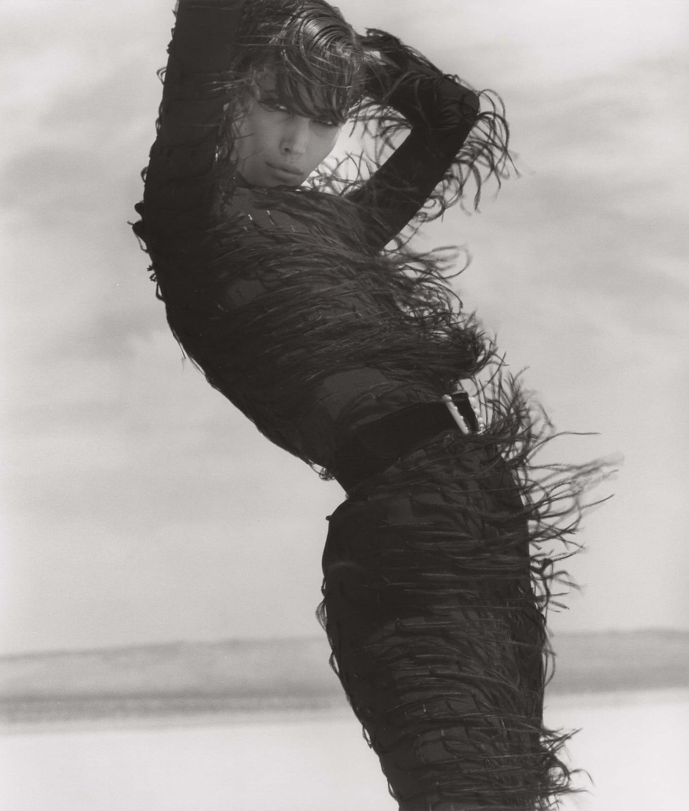 Herb Ritts, Christy Turlington - Versace, El Mirage, 1990