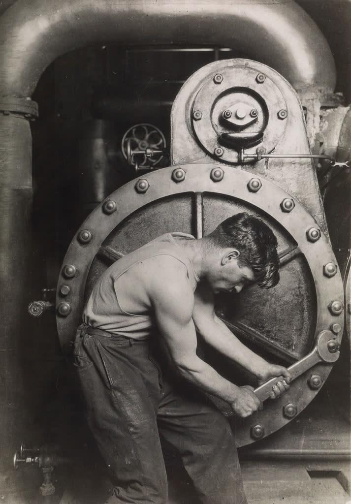Lewis Hine, Powerhouse Mechanic, 1920