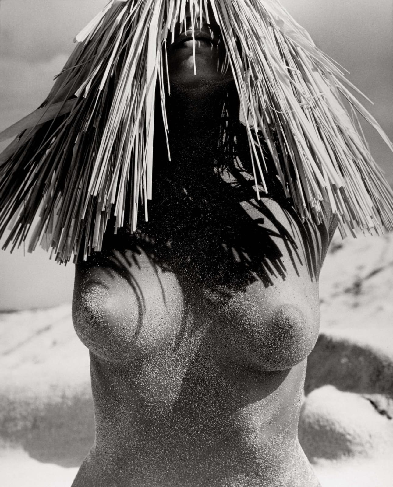 Herb Ritts, Woman with Straw Hat, Hawaii, 1988