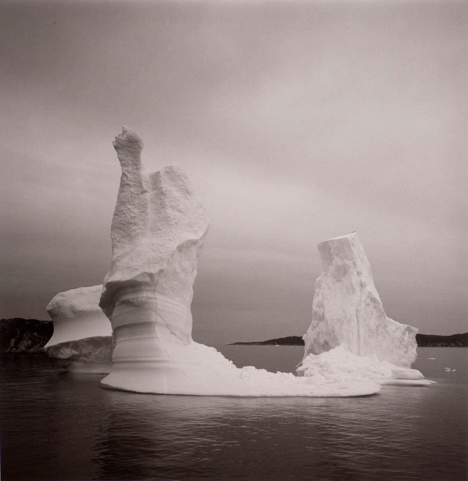 Lynn Davis photograph of icebergs in Disko Bay, Greenland