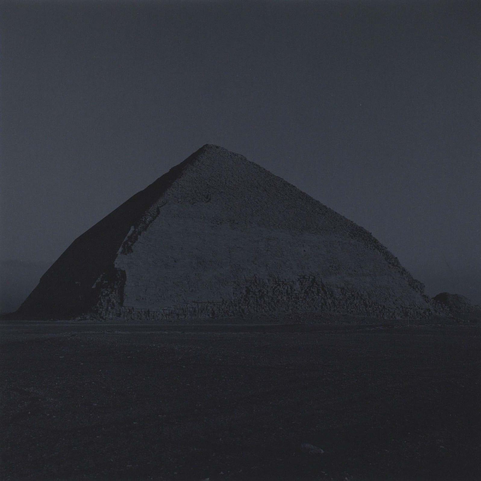 Bent Pyramid in Dashur, Cairo, Egypt toned blue, by Lynn Davis