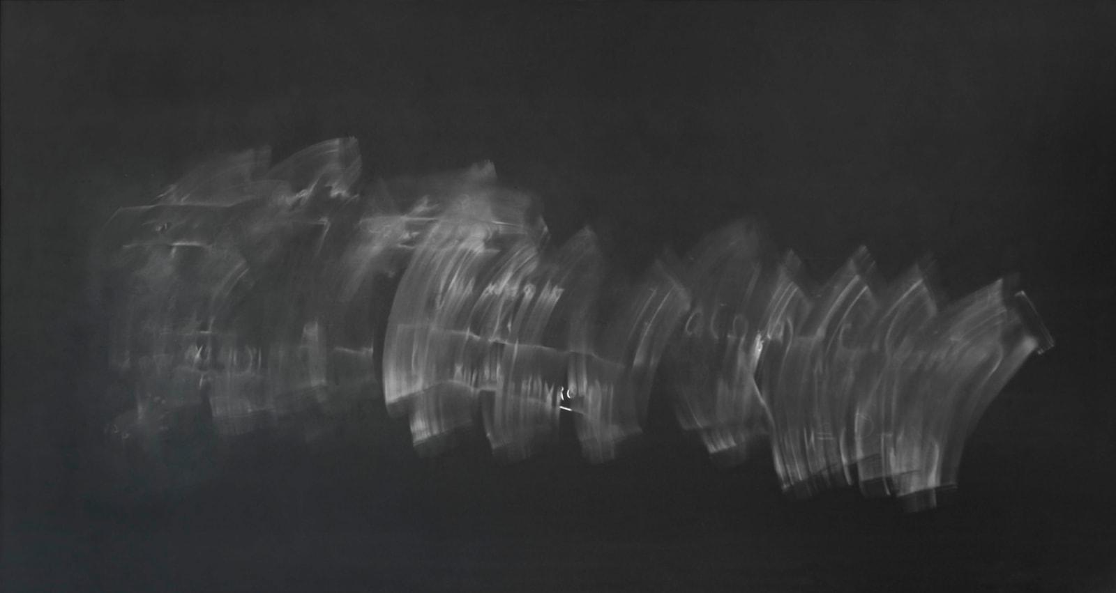 Jessica Wynne Mitchell Faulk #1 Columbia University erased chalkboard with mathematical writing