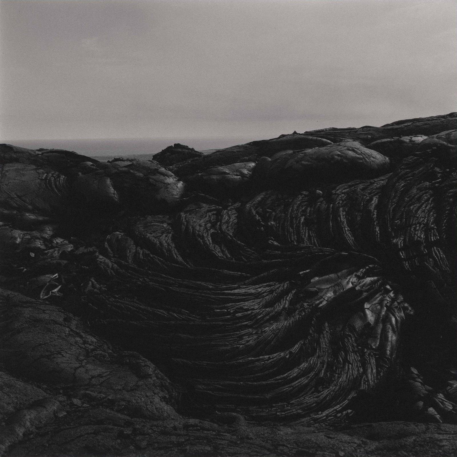Lynn Davis photograph of black lava in Hawaii