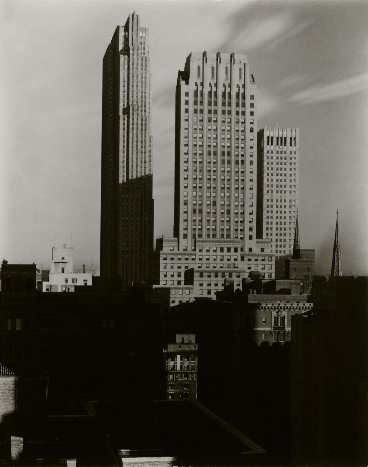View of Rockefeller Center from the Shelton Hotel, by Alfred Stieglitz