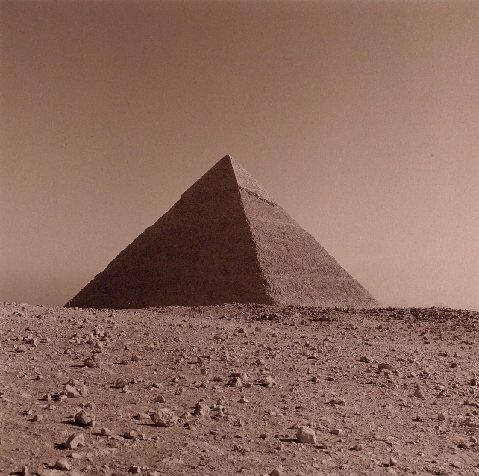 Lynn Davis photograph of ancient pyramid at Chephren, Giza, Cairo, Egypt, toned with selenium