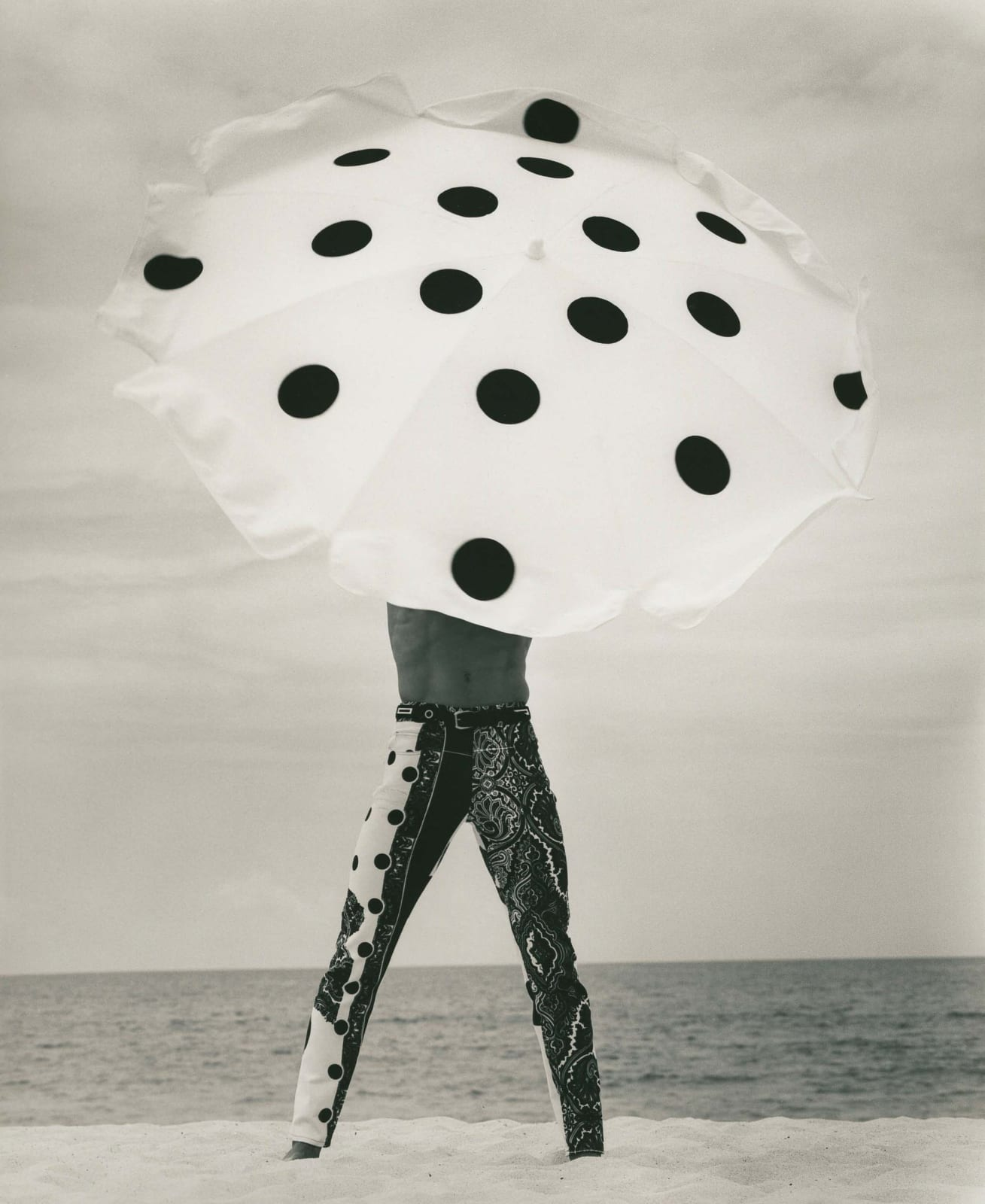 Herb Ritts, Versace Pants, El Mirage (a), 1990