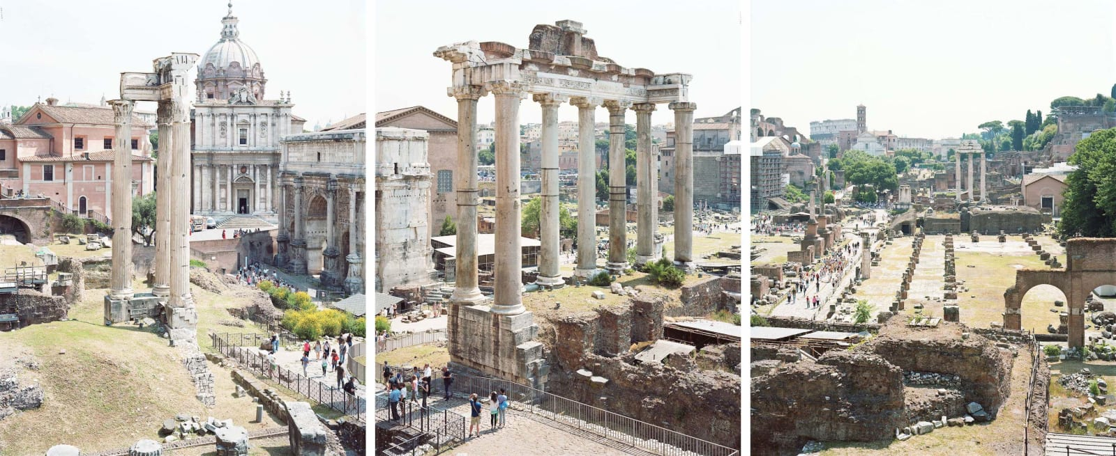 Triptych of the Roman Forum, Italy by Massimo VItali
