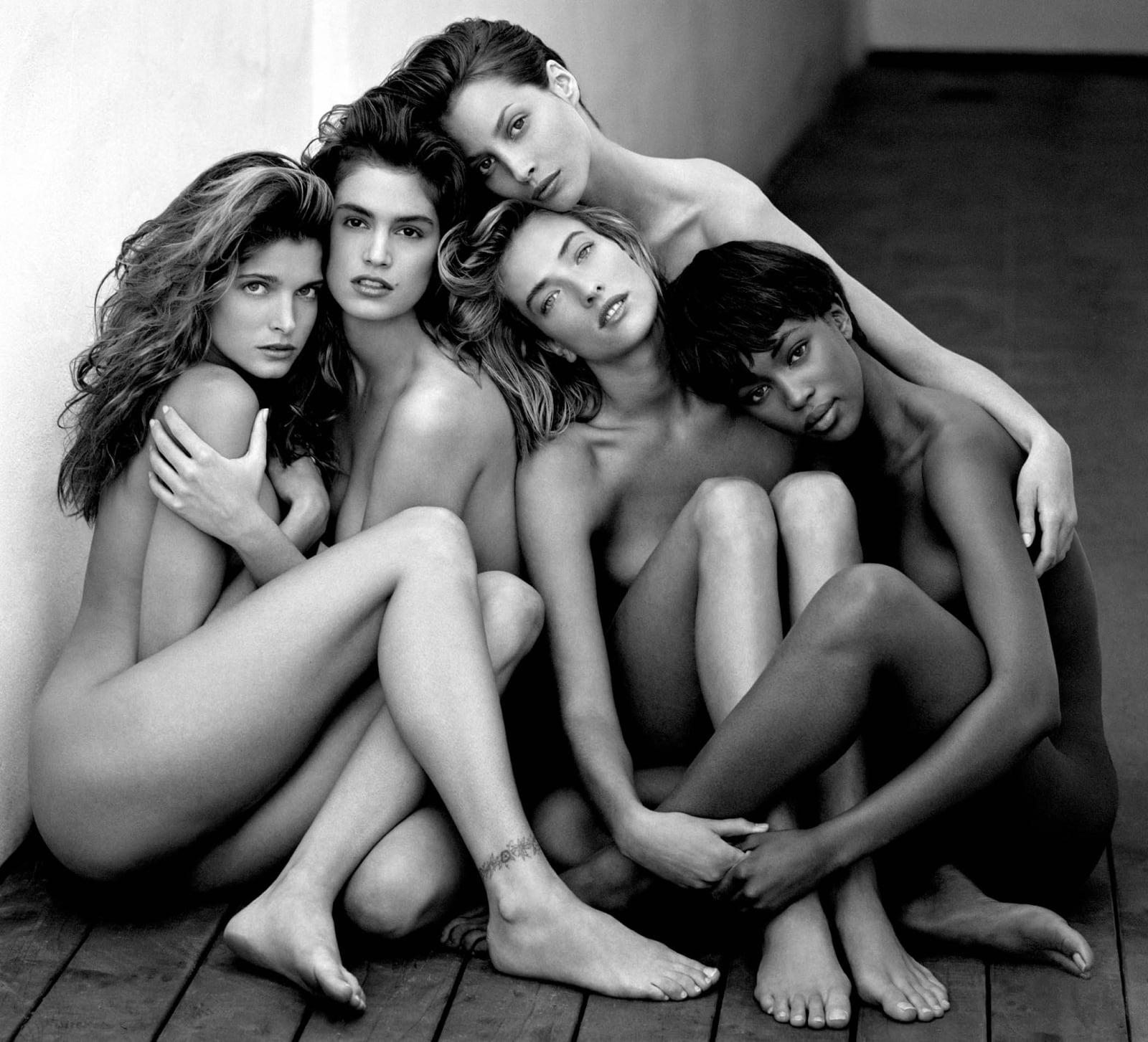 Herb Ritts, Stephanie, Cindy, Christy, Tatjana, Naomi, Hollywood, 1989