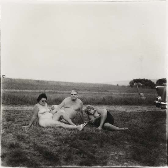 Diane Arbus, A Family and Their Car in a Nudist Camp in Pennsylvania, 1965