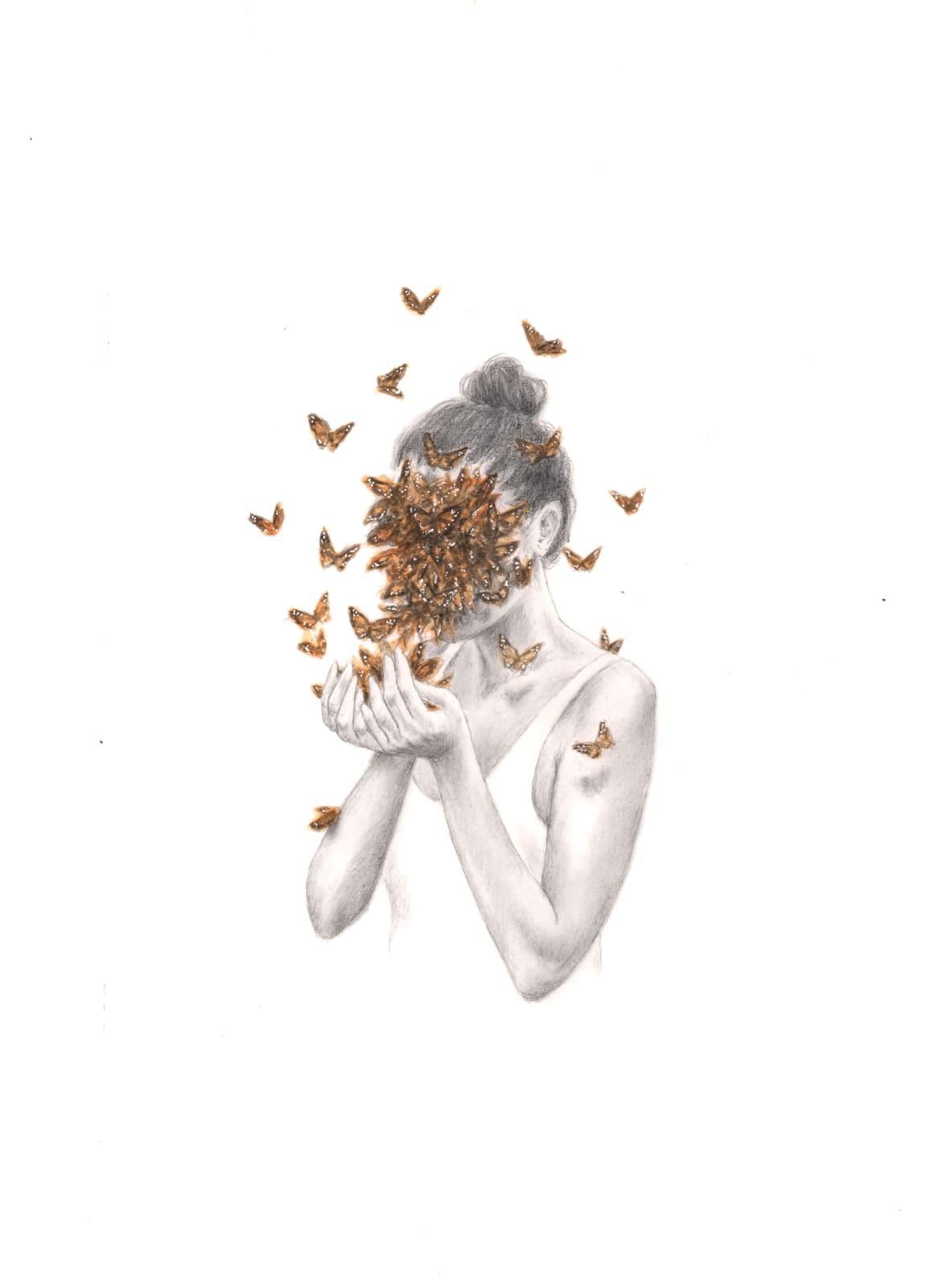 Rachel Goodyear, Butterflies (study), 2021