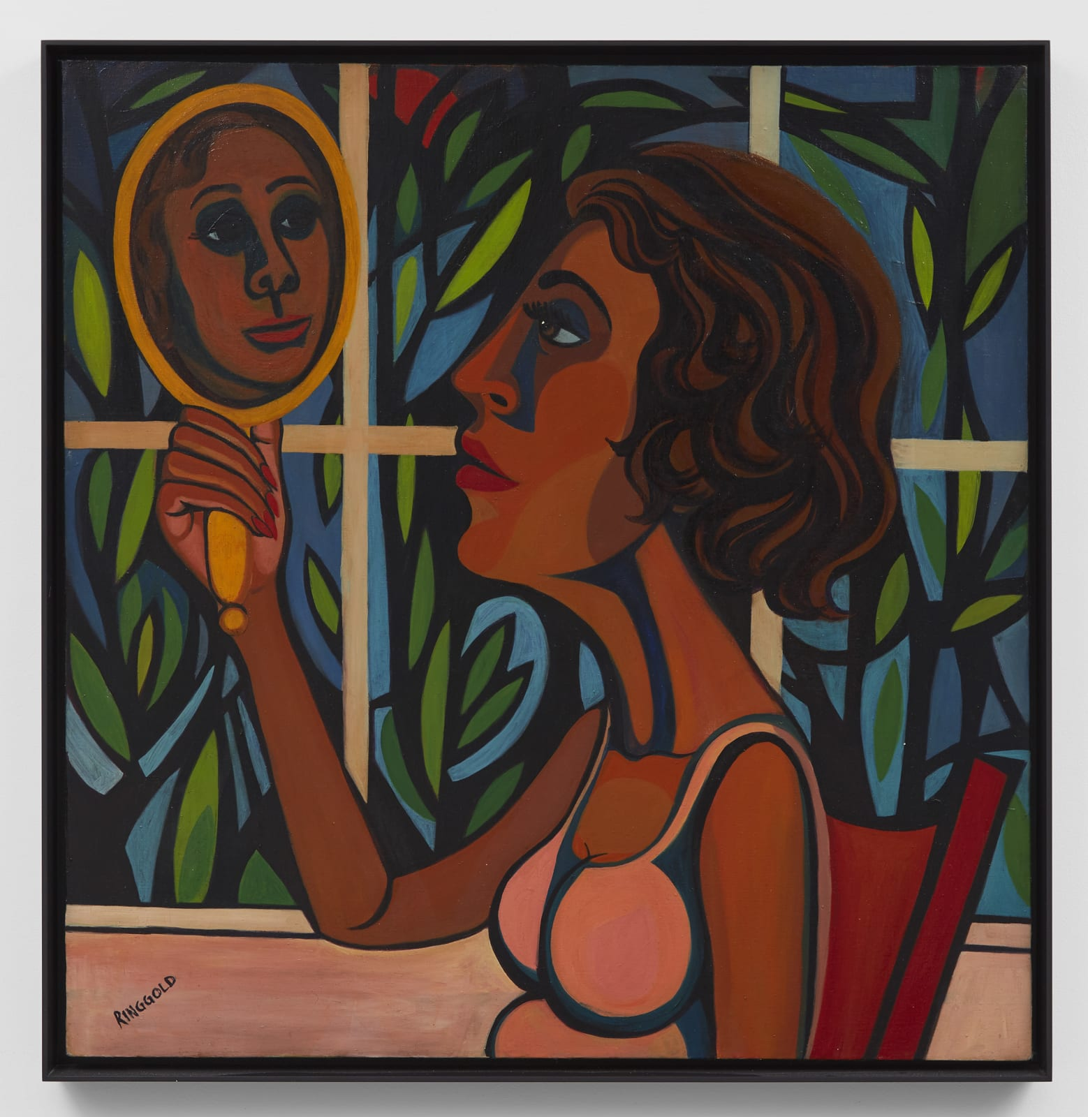 Faith Ringgold, American People Series #16: Woman Looking in a Mirror, 1966