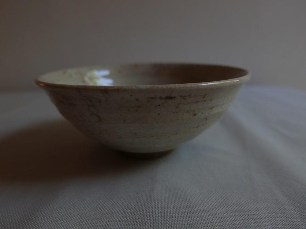 Vintage Ceramics, Matcha Bowl - Shino Glaze
